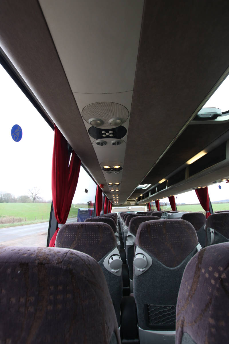 Image of 53 Seat Luxury Coach, Personal Lighting Detail