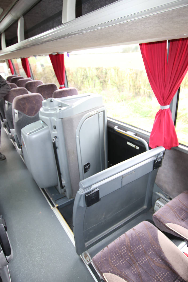 Image of 53 Seat Luxury Coach, Comfort Break Detail