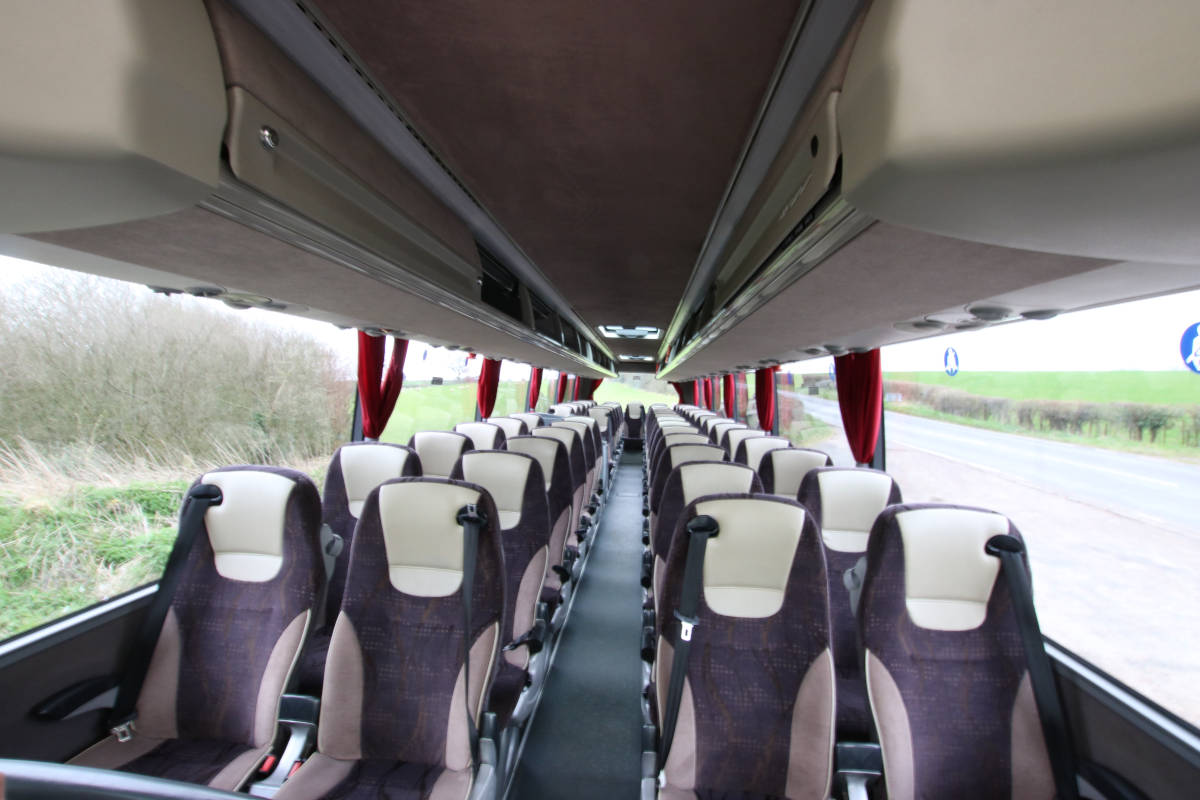 An image of 53 Seat Luxury Coach, Equipped for Executive Travel goes here.