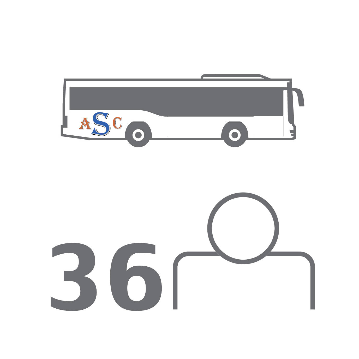 Small: 36 Seat Coach Travel: Perfect for a medium sized travel group, our small coaches accommodate up to 36 passengers in comfort and style.